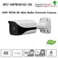 Оригинальный DH IPC-HFW4831E-SE Ultra HD 8MP Встроенный слот для sd-карт IP67 IR40M POE 4 К ip-камера Замена IPC-HFW4830E-S без логотипа