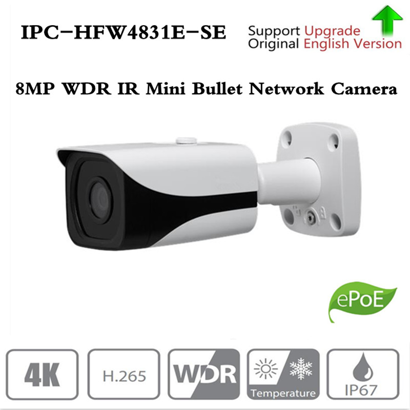 original DH IPC HFW4831E SE Ultra HD 8MP built in sd card slot IP67 IR40M POE 4K IP Camera replace IPC HFW4830E S Without Logo-in Surveillance Cameras from Security & Protection