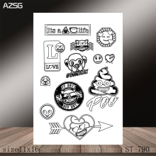 AZSG Funny expression Clear Stamps/Stamp/For Scrapooking/Card Making/Silicone Stamps/Decoration  Crafts
