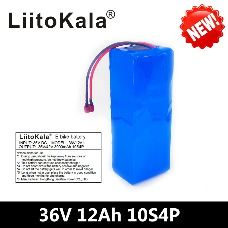 LiitoKala 36V 12ah 10S4P Lelectric bicycle battery pack 18650 Li-Ion Battery 500W High Power and Capacity 42V Motorcycle ScooteLiitoKala 36V 12ah 10S4P Lelectric bicycle battery pack 18650 Li-Ion Battery 500W High Power and Capacity 42V Motorcycle Scoote