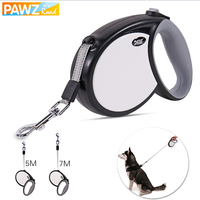 Pet Dogs Retractable Leashes 5/7M Auto ABS/TPR Leash for Large Dogs Non Slip One hand Pet Dogs Walking Adjustable Training Leads