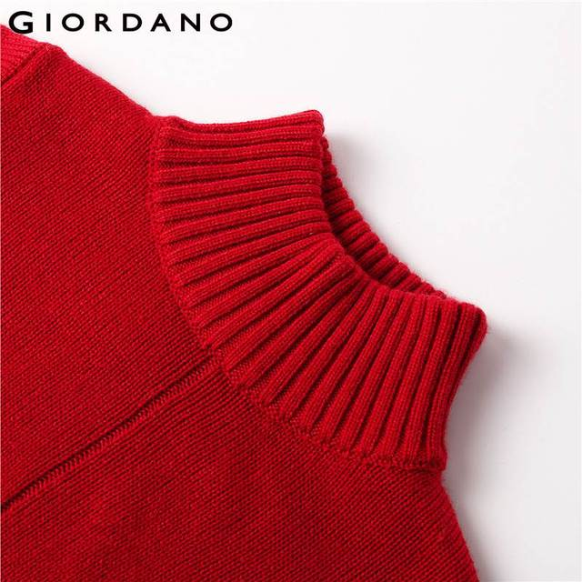 Giordano Women Sweater Women Pullover Turtleneck Loose Long Sleeves Fashion Pull Femme Women Button Ribbed Cuffs Sueter Mujer