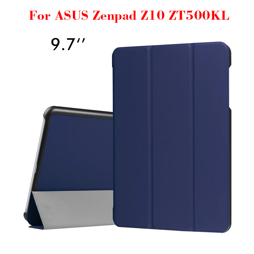 PU Leather Case For ASUS Zenpad Z10 ZT500KL Flip Ultra-Slim Caster Smart Tablet Case Cover 9.7'' Protective Stand Shell Skin New flip left and right stand pu leather case cover for blu vivo air