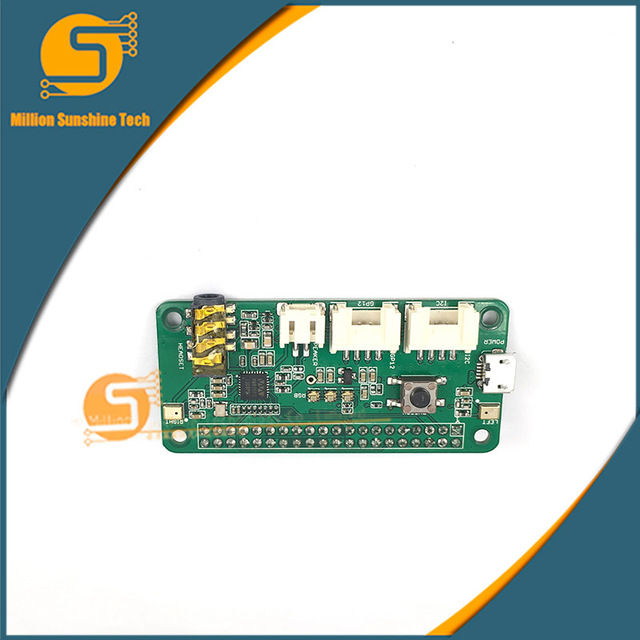 Respeaker Intelligent Voice Dual Microphone expansion board compatible raspberry Pie ZERO/3B/2B