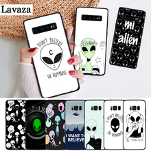 Lavaza Alien Believe UFO ET cute Silicone Case for Samsung S6 Edge S7 S8 Plus S9 S10 S10e Note 8 9 10 M10 M20 M30 M40