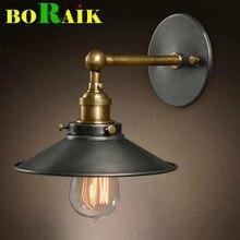 Lámpara de pared de la vendimia americana lámpara de noche lámparas de pared para el hogar iluminación interior diámetro 22 cm 110 V/220 V E27