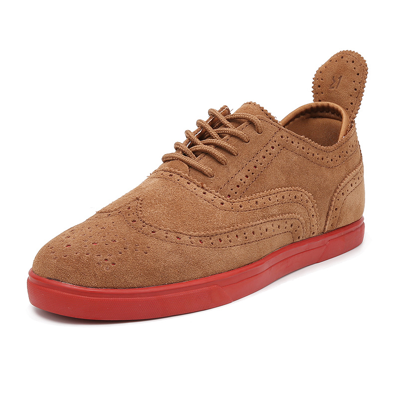 ФОТО New Arrival sale Hot Sale fashion British style Mens Shoes Mens canvas shoes suede leather Casual Breathable Shoes flats Free