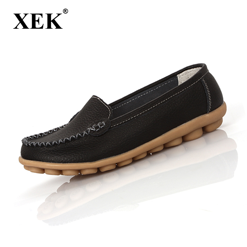 New 2017 Women flats genuine Leather Shoes Slip on women Flat shoes woman moccasins Spring summer Winter shoes 8189 2017 summer new women fashion leather nurse teacher flats moccasins comfortable woman shoes cut outs leisure flat woman casual s