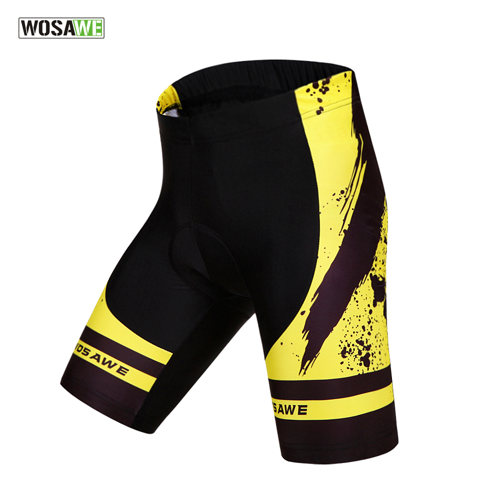 WOSAWE Men Women Cycling Shorts 3D Padded Gel Shockproof MTB Bicycle Bike Shorts Ropa Ciclismo Tights
