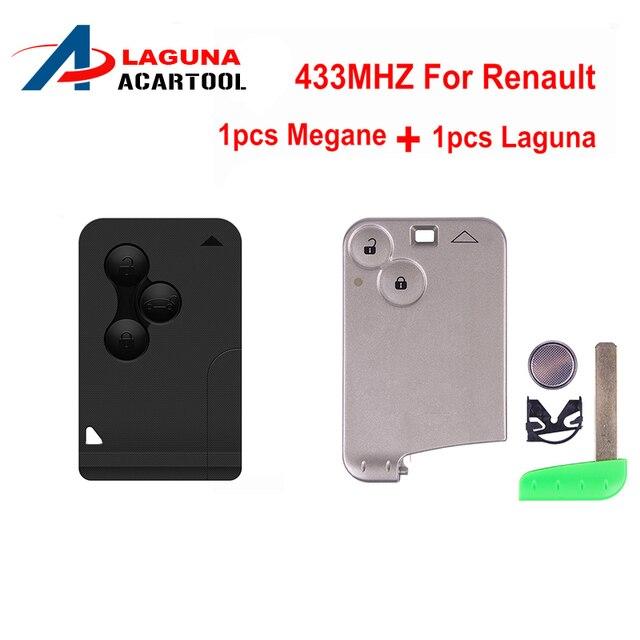 Dla Renault Megane Karty Klucz 3 Przycisk Remote Key 433 Mhz Z 1