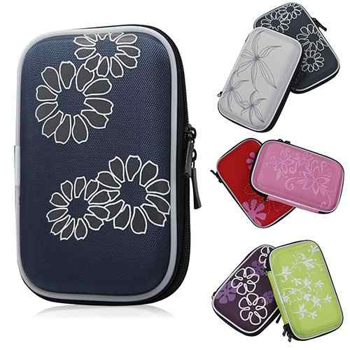 2.5''  Portable External Hard Drive Shockproof  Flower Printed Carrying Travel Hard Drive Case Чехол для жесткого диска
