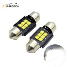 2pcs 30W AC12-24V Festoon CANBUS 31mm 36mm 39mm 41mm C5W led ERROR FREE CREEXBD LED smd interior reading white bulbs dome lamps