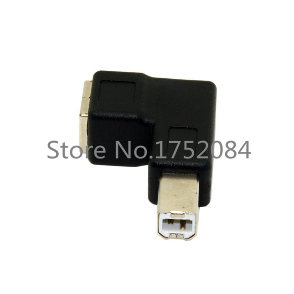 USB 2.0 B male to female 90 degree angle L type adapter connector printer jack