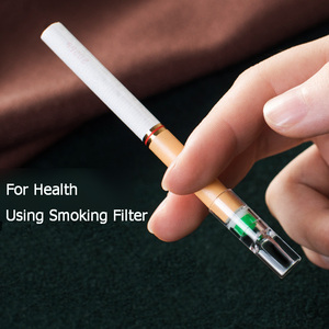 Image 2 - 100pcs Set Smoking Filter Pipe Tobacco Universal Thick and Slim Cigarettes Reduce Tar Filter Smoking Accessories