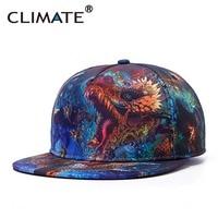 CLIMATE Women Men 3D Dragons Unique Snapback Hats Printed Street Caps Summer 3D Sport Caps Hiphop