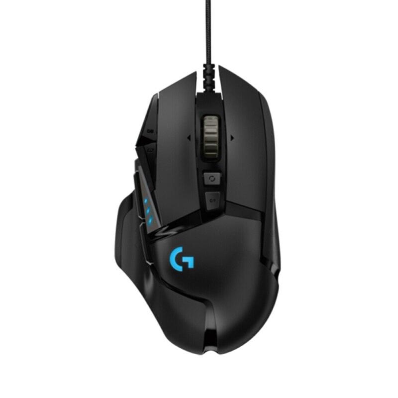 Logitech (g) g502 herói jogo mestre mouse linha completa atualização herói motor 16000 dpi rgb brilho g502 rgb atualizar