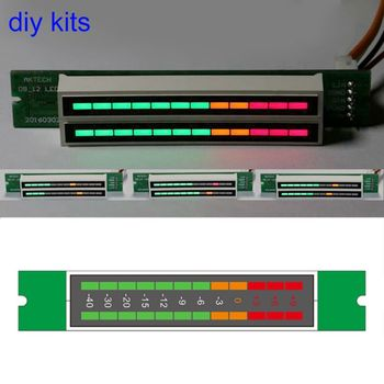 Kép 12 Stereo chỉ báo Mức TỰ LÀM Kit LED VU Meter đèn Tốc Độ Ánh Sáng Có Thể Điều Chỉnh