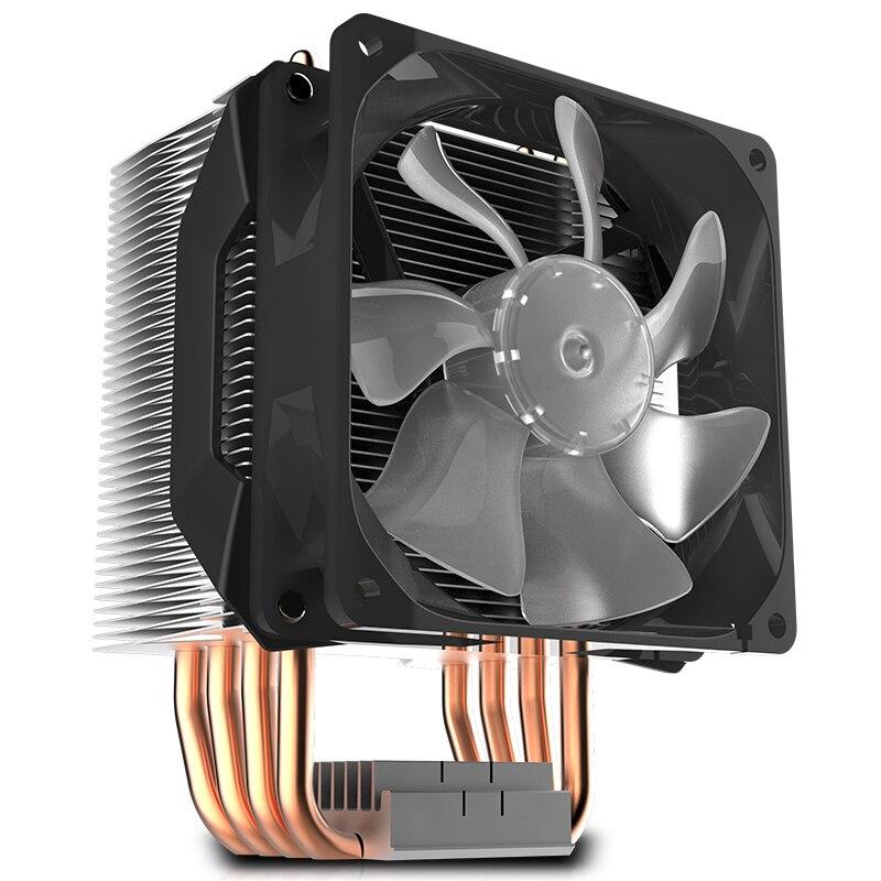 Refroidisseur Master T410R 4 caloduc refroidisseur de processeur pour LGA 1155 1156 AMD AM4 AM3 silencieux 92mm LED 4pin PWM ventilateur PC CPU ventilateur de radiateur de refroidissement - 4