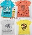 2015 verão nova 1 pcs Muitos estilos 100% algodão de Boa qualidade crianças meninos camisas 2-6 anos camiseta para as meninas