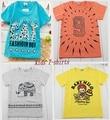 2015 verano nuevo 1 unids Muchos estilos 100% infantil chicos camisetas 2-6 años de algodón de Buena calidad camiseta para las niñas