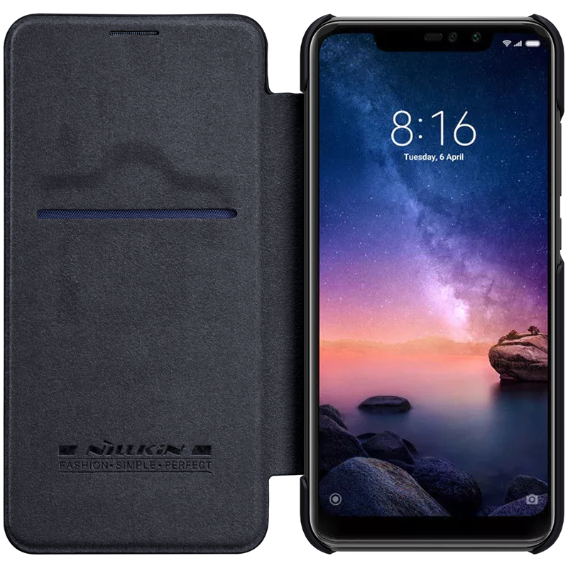 Xiaomi redmi note 6 Pro Fall redmi note 6 pro Abdeckung Flip NILLKIN Qin Leder Abdeckung Für Xiaomi Hinweis 6 Pro globale brieftasche Fall