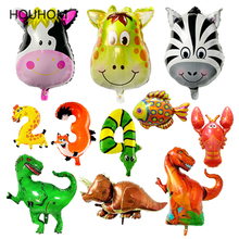 Animal Balloons Jungle Safari Party Baloon Number Balloon Ballon Babyshower Birthday Decorations Kids