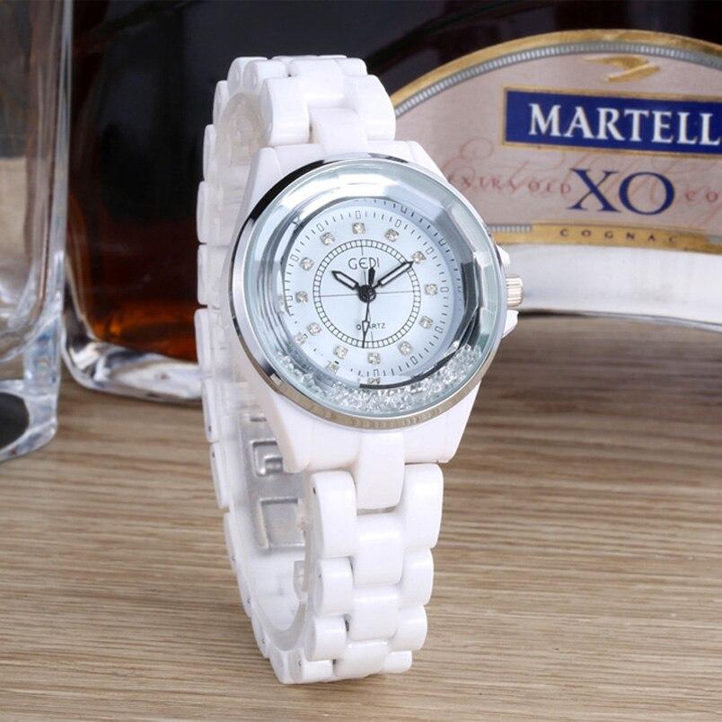 Romantic White Ceramics Women's Quartz Watches Ceramics Strap Wrist Watches Ladies Dress Gifts Clocks Relogio Feminino Saat