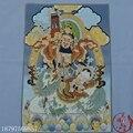 Рождество Thangka парча шелковая Живопись Вышивка ваджрей Будда непальский Будда статуя езда Лев; Будда Хэллоуин