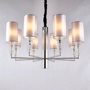 Moderne minimalistischen edelstahl kristall anhänger licht persönlichkeit Restaurant esszimmer bar hängen beleuchtung lampen