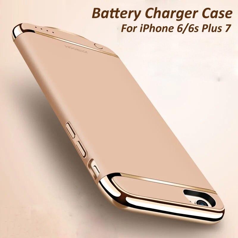 Цена за 2500-3500 мАч Батарея Зарядное устройство чехол для iPhone 6 plus Резервное копирование Мощность банка для iPhone 7/ плюс внешний Батарея Мощность Bank Дело