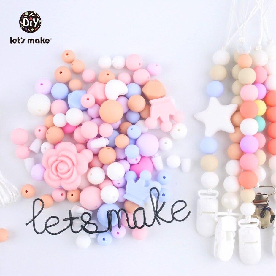 Lassen Sie Machen Silikon Gelegentliche Perlen 100 Pc Zahnen Montessori Spielzeug Diy Handwerk Baby Silikon Beißring Perlen Organische Pflege Halskette So Effektiv Wie Eine Fee Baby Beißringe Babypflege