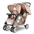 Double twin stroller collapsible