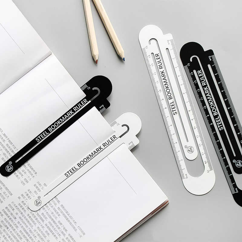 1pcs MUJI STYLE 12cm15cm High quality steel ruler  metal ruler  Metal bookmarks School Supplies Drawing supplies