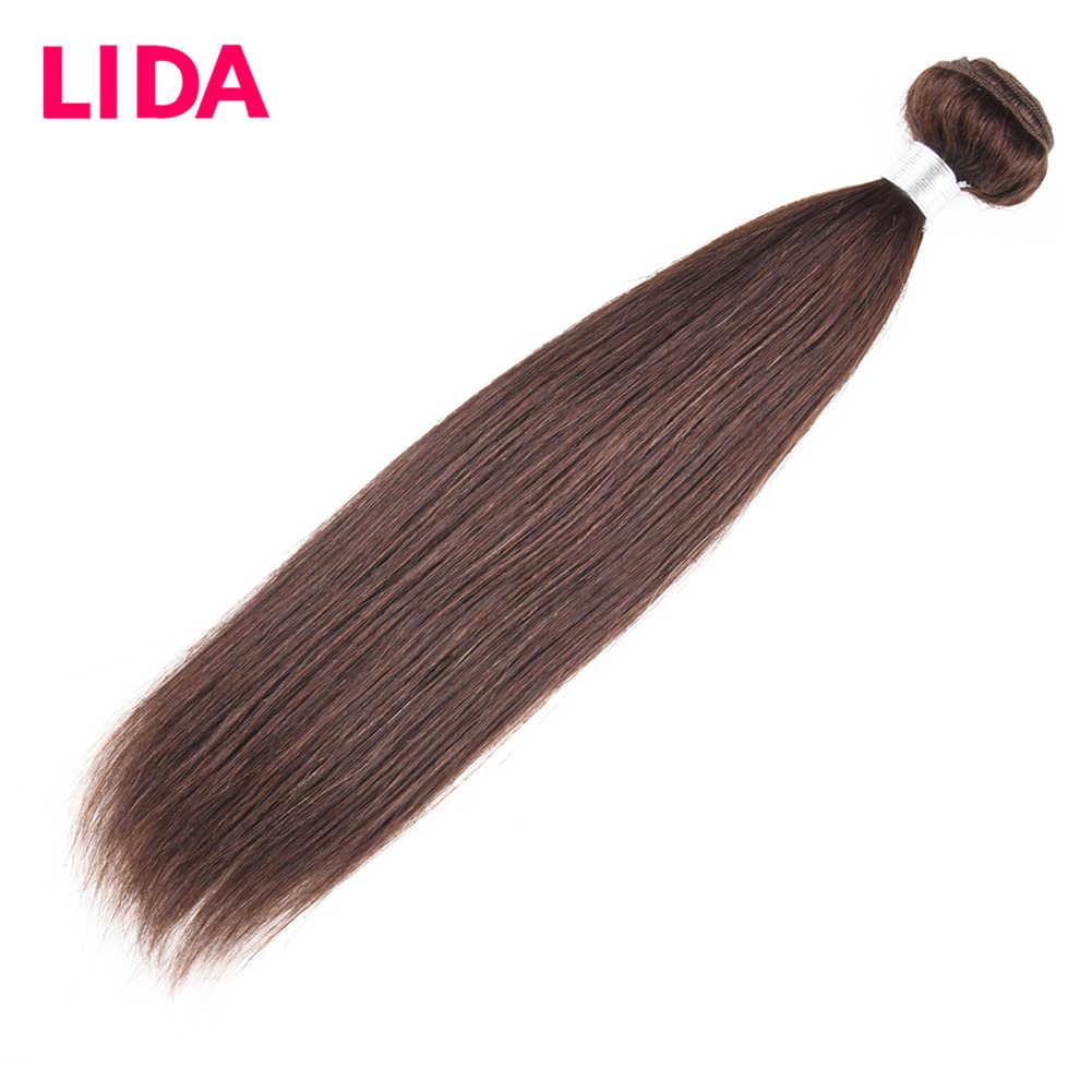 LIDA Insan Saç Demetleri Çift Atkı Malezya Saç Örgü Demetleri 8-26 inç remy düz saç Demetleri 3 Demetleri Anlaşma