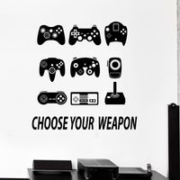 Game Handle Sticker Gamer Decal Gaming Posters Gamer Vinyl Wall Decals Parede Decor Mural Video Game