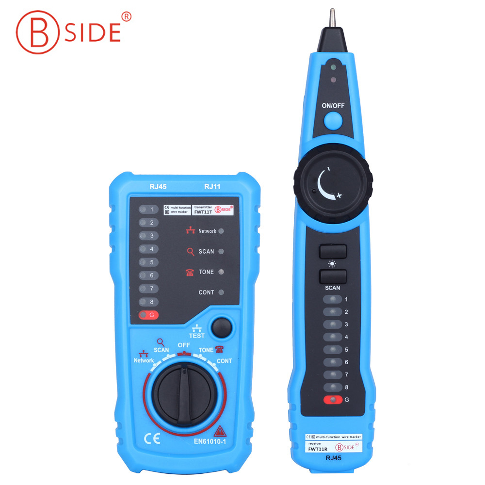BSIDE FWT11 Handheld RJ11 RJ45 Telephone Network Wire Tracker Ethernet LAN Cable Tester Detector Line Finder fwt01 network lan ethernet wire tracker finder detector