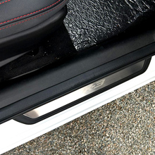 For Mazda cx3 cx-3 2017 2018 Door Sill Scuff Plate Welcome Pedal Stainless Steel Car Styling Accessories