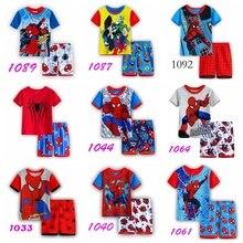 spider-man New Children s wear girls boys short sleeve T-shirt set pajamas  Kids d8e25044c