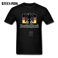 Unique Tee Shirts Deutschland Flag Crest Germany Eagle Soccer Football Mens 100 Cotton Short Sleeve T