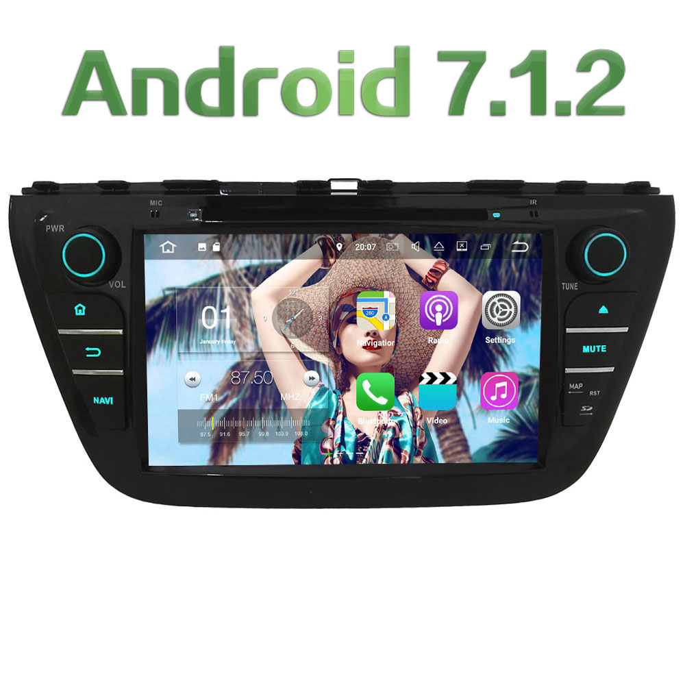 Android 7 1 2 2GB RAM 8 Quad Core 4G Wifi SWC DAB Car DVD font