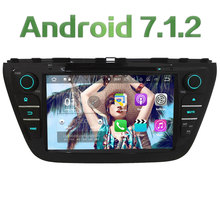 "Android 7.1.2 2GB RAM 8"" Quad Core 4G Wifi SWC DAB+ Car DVD Multimedia Player Radio GPS For Suzuki SX4 S-Cross 2014-2017"