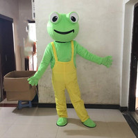 Cartoon Frog Mascot Costume Cartoon Character Plush Mascot Costumes for Christmas Halloween Birthday Party Adult Suit