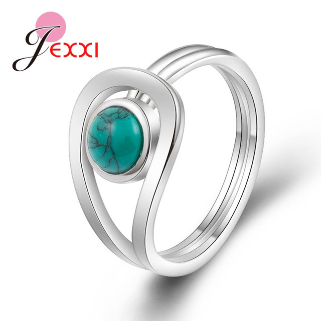 JEMMIN New Arrival Unique Design 925 Sterling Silver Rings Gorgeous Halo Opal Wo