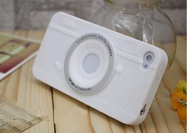 High quality itape camera style, silicon case for iphone 4, back case for iphone 4 with freeshipping