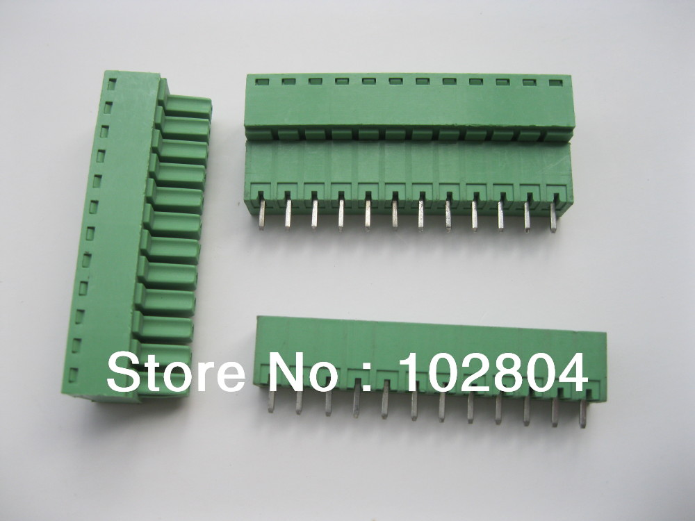 12 шт. в партии Клеммная колодка Разъем 3.81 мм 12 способ/pin Зеленый вставные Тип высокого качества Лидер продаж распродажа