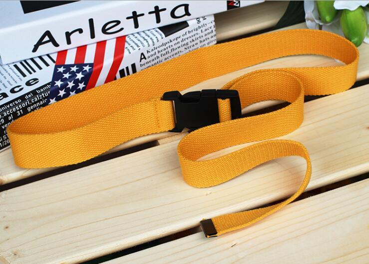 Женский ремень Харадзюку, красный, с буквенным принтом, модный, унисекс, двойное d-образное кольцо, Холщовый ремень, женские длинные ремни для джинсов - Цвет: Style 2 Yellow