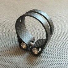 Идеальный вариант! 3K матовое углеродное волокно 14g стойка сидения для горного велосипеда зажим MTB дорожный велосипедный подседельный штырь зажим 34,9 мм 31,8 мм