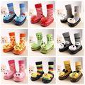 11 Cores Unisex Primeiro Walkers Do Bebê Meias Sapatos Bebê Prewalker Calçado Bebe Meias Bebê Recém-nascido Animal Interior
