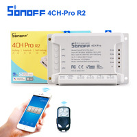 Sonoff 4CH Pro R2 Smart Switch 4 Channels 433MHz 2 4G Wifi Remote Control Smart Automation