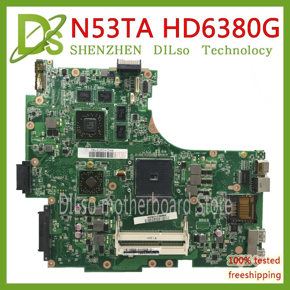 KEFU N53TA mainboard For ASUS N53T N53TA  laptop motherboard HD6380M 1G video memory Test work 100% originalKEFU N53TA mainboard For ASUS N53T N53TA  laptop motherboard HD6380M 1G video memory Test work 100% original